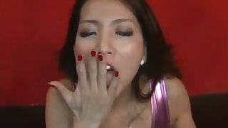 This Asian babe is a rare gem go wool-gathering looks great with a cum anent her mouth