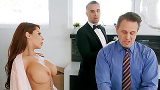 Horny butler is preparing to anal bonk housewife