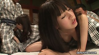 Alluring Japanese gal Jyuri Ayase takes part in crazy group sex orgy