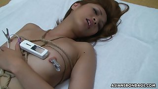 Shibari Japanese bitch Haruka Otsuka is fucked and jizzed by one horny man