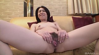 Mature asian Nobuko Tachikawa get-up-and-go for hard with an increment of long friend's cock