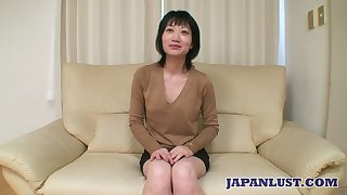Asian milf Eri Kawasaki is fucked with the addition of creampied wits oddball dude with a tiny dick