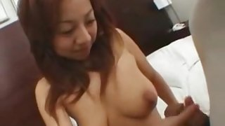 japanese girl is giving head