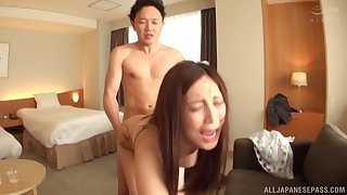 Japanese girl gets fucked by everlasting friend's pecker while she moans