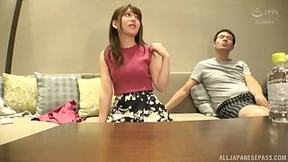 After long day Arimura Nozomi is on say no to knees blowing hard cock