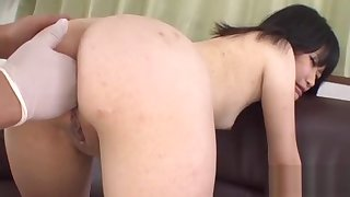 Oriental involving upskirt gives anal riding
