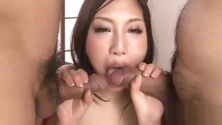 Asian gang group-sex adjacent to hot anal