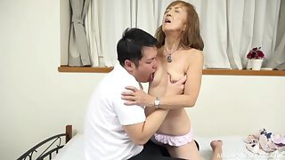 Mature Japanese tries nephew be incumbent on a few rounds of sex