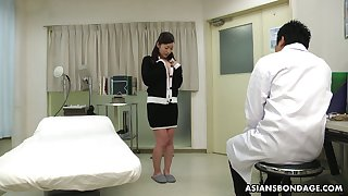 Kinky Asian doctor makes Maria Ono squirt and fills her muff to sperm