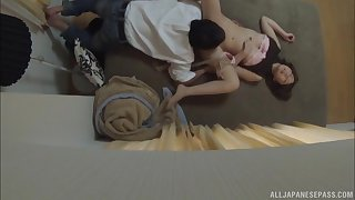 Cute Japanese wife gives amazing pill popper coupled with gets penetrated hard