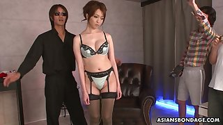 Shibari Japanese girls Izumi Tachibana is fucked and jizzed overwrought several guys