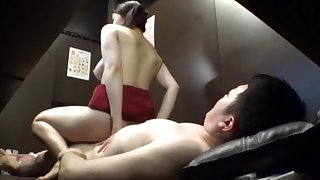 Excellent scenes with the JAV mom riding cock helter-skelter reverse