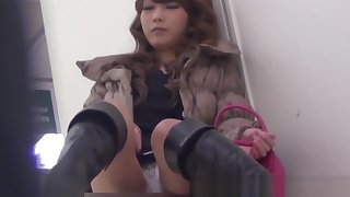 Japanese chick uses toys down wonder herself on hidden cam