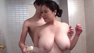 Incautious hardcore sex for the busty mature Japanese mom