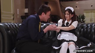 Cute Asian maid gets fucked by their way venal married big wheel